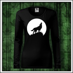 Dámske dlhorukávové svietiace tričko Vlk