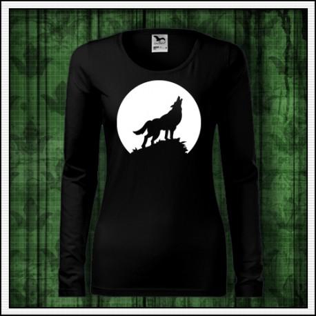 Svietiace tričko s motívom vlka