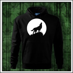 Pánska svietiaca mikina Vlk