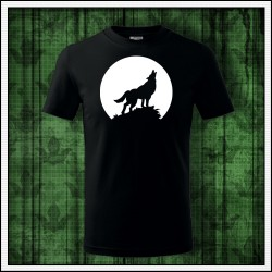 Detské svietiace tričko Vlk