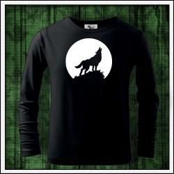 Detské 160g. dlhorukávové svietiace tričko Vlk
