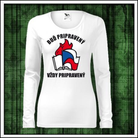 Dámske dlhorukávové tričko Pionier, retro darček