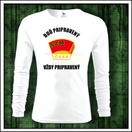 Dlhorukávové retro tričko Zväzák, ČSSR, SZM