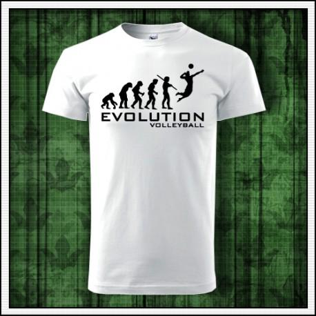Humorné tričko Evolúcia volejbalu