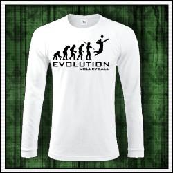 Vtipné pánske 180 g. dlhorukávové tričká Evolution Volleyball