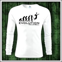 Vtipné pánske 160g. dlhorukávové tričká Evolution Volleyball