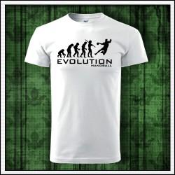 Vtipné unisex tričká Evolution Handball