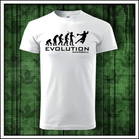 Humorné športové tričko Evolúcia Hadzaná