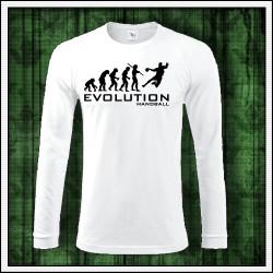 Vtipné pánske 180 g. dlhorukávové tričká Evolution Handball