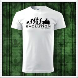 Vtipné unisex tričká Evolution Motorbike