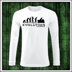 Vtipné pánske 180 g. dlhorukávové tričká Evolution Motorbike