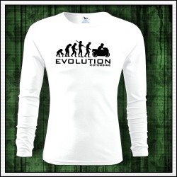 Vtipné pánske 160g. dlhorukávové tričká Evolution Motorbike