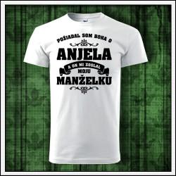 Unisex tričká Anjel - Manželka