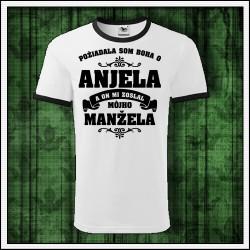 Unisex dvojfarebné tričká Anjel - Manžel