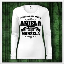 Dámske dlhorukávové tričká Anjel - Manžel