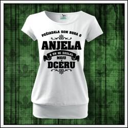 Dámske tričká s patentom Anjel - Mama - Dcéra