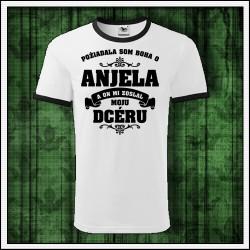 Unisex dvojfarebné tričká Anjel - Mama - Dcéra