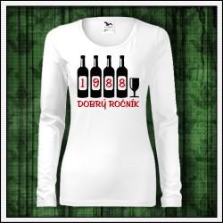 Vtipné dámske dlhorukávové tričká Dobrý ročník