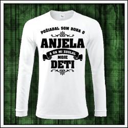 Pánske 180 g. dlhorukávové tričká Anjel - Otec - Deti