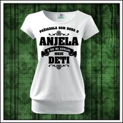 Dámske tričká s patentom Anjel - Mama - Deti