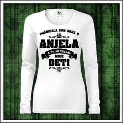 Dámske dlhorukávové tričká Anjel - Mama - Deti