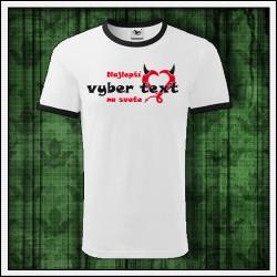 Vtipné unisex dvojfarebné tričko Najlepší ..... na svete, darcek pre bratranca
