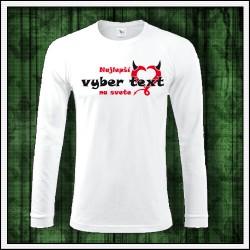 Vtipné pánske 180 g. dlhorukávové tričká Najlepší ..... na svete