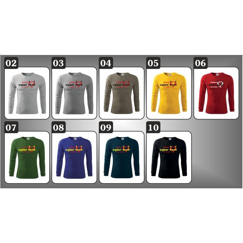 Vtipné pánske dlhorukávové tričko Najlepší na svete bddd4266bb9