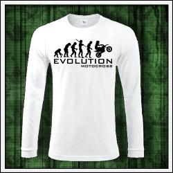 Vtipné pánske dlhorukávové tričko Evolution Motocross