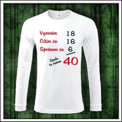 Vtipný darček na narodeniny, dlhorukávové tričko Spolu to máme...