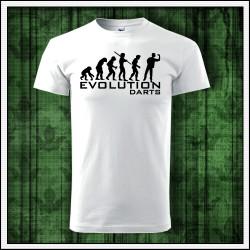 Vtipné unisex tričká Evolution Darts