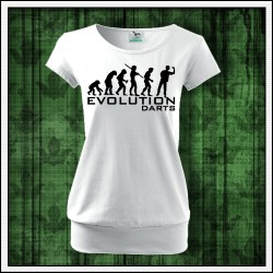 Vtipné dámske tričká s patentom Evolution Darts