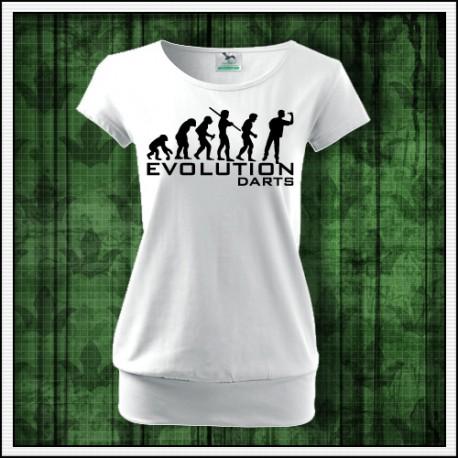 Vtipné dámske tričko s patentom Evolucia šípky