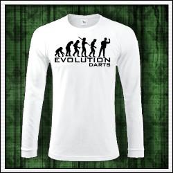 Vtipné pánske 180 g. dlhorukávové tričká Evolution Darts