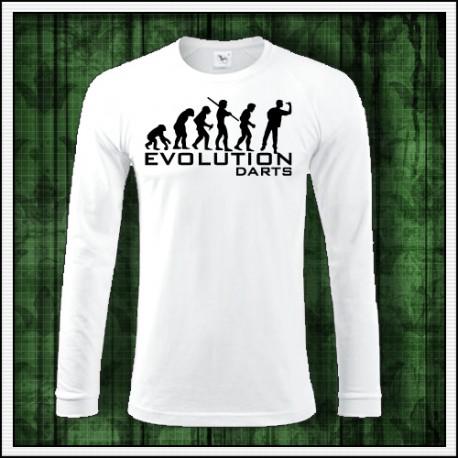 Vtipné pánske dlhorukávové tričko Evolution Darts