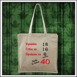vtipná taška darček na narodeniny Spolu to máme...