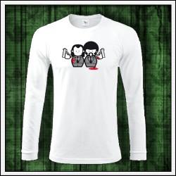 Vtipné pánske 180 g. dlhorukávové tričká Pulp Fiction