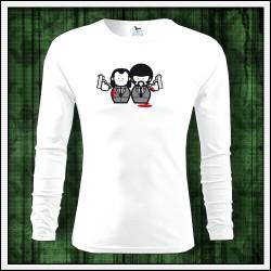 Vtipné pánske 160g. dlhorukávové tričká Pulp Fiction