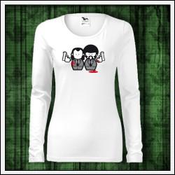 Vtipné dámske tričko s dlhým rukávom Pulp Fiction