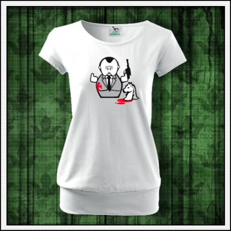 Vtipné dámske tričko The Godfather, darcek the Godfather