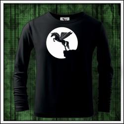 Detské 160g. dlhorukávové svietiace tričko Lietajúci jednorožec