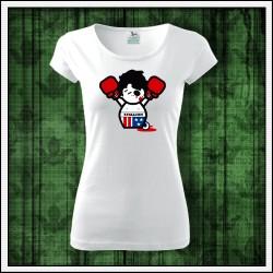 Vtipné dámske tričko Rocky Balboa, vtipny darcek