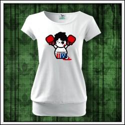 Vtipné dámske tričká s patentom Rocky Balboa