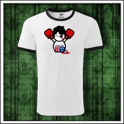 Vtipné unisex dvojfarebné tričko Rocky Balboa