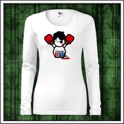 Vtipné dámske dlhorukávové tričká Rocky Balboa