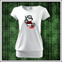 Vtipné dámske tričko Freddy Krueger, darček pre milovníčku hororu