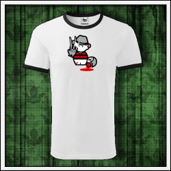 Vtipné unisex dvojfarebné tričko Freddy Krueger