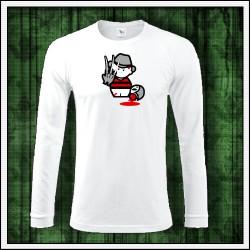 Vtipné pánske 180 g. dlhorukávové tričká Freddy Krueger