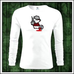 Vtipné pánske 160g. dlhorukávové tričká Freddy Krueger