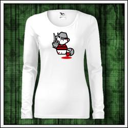 Vtipné dámske dlhorukávové tričko Freddy Krueger